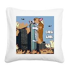 corgikong_mousepad Square Canvas Pillow