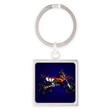 red_lightbike Square Keychain