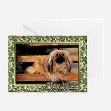 Pekingese Dog Christmas Greeting Card