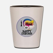 I Dream of Happy Endings Shot Glass