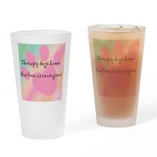 loveiscontagious_tile Drinking Glass