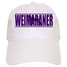 hidden_weimaraner_purp Baseball Cap