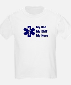 My Dad My EMT Kids T-Shirt