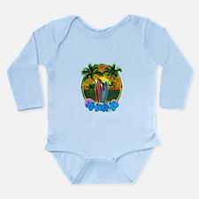 Island Sunset Parrot Body Suit