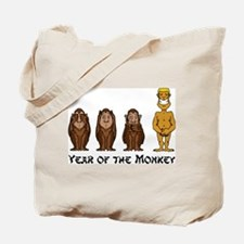 Funny Year of The Monkey Tote Bag
