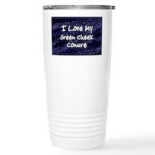 funklove_oval_greencheekconure Travel Mug