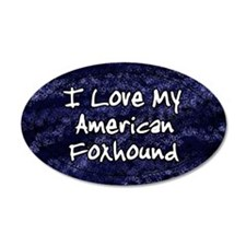 funklove_oval_amfoxhound Wall Decal