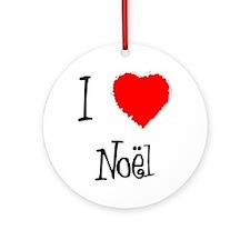I Love Noel  Ornament (Round)