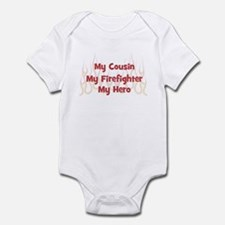 My Cousin My Firefighter Infant Bodysuit