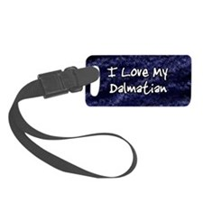 funklove_oval_dalmatian Luggage Tag