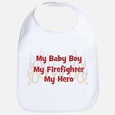 My Baby Boy My Firefighter Bib