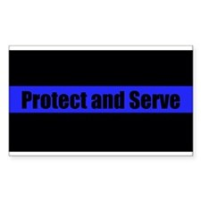 Protect and Serve Police Stickers
