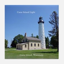 Cana Island Light Tile Coaster