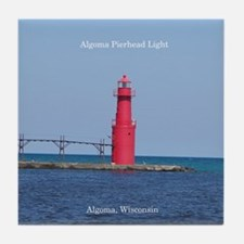 Algoma Pierhead Light Tile Coaster