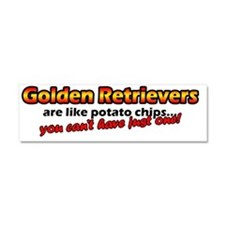 potatochips_goldenret Car Magnet 10 x 3
