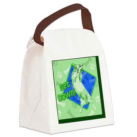 corgi_getdown_tile Canvas Lunch Bag