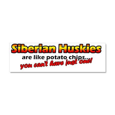 potatochips_siberianhusky Car Magnet 10 x 3