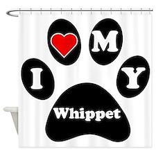 I Heart My Whippet Shower Curtain