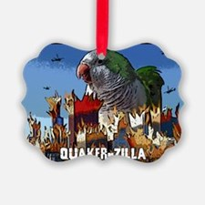 quakerzilla_card Ornament