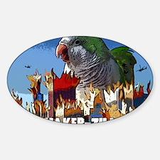 quakerzilla_poster Sticker (Oval)
