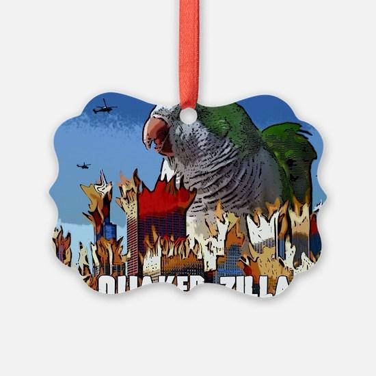 quakerzilla_poster Ornament