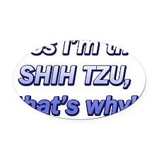 cosimthe_shihtzu Oval Car Magnet