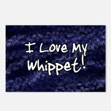 funklove_oval_whippet Postcards (Package of 8)