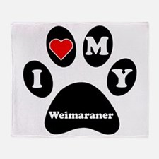 I Heart My Weimaraner Throw Blanket