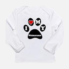 I Heart My Weimaraner Long Sleeve T-Shirt