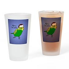 ornament_budgiegreen Drinking Glass