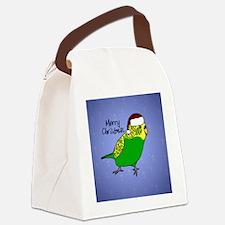 ornament_budgiegreen Canvas Lunch Bag