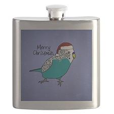 ornament_budgieblue Flask