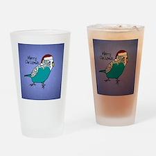 ornament_budgieblue Drinking Glass