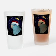 christmasnight_parrotletblue Drinking Glass
