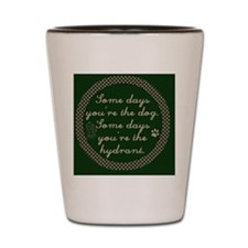 country_hydrant_emerald Shot Glass