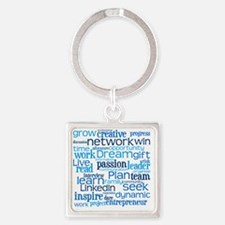 Career Cloud Square Keychain