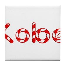 Kobe - Candy Cane Tile Coaster