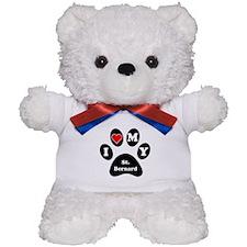 I Heart My St. Bernard Teddy Bear