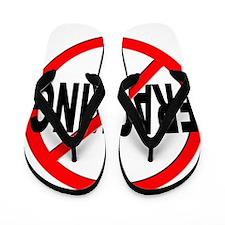 Anti / No Fracking Flip Flops