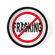 Anti / No Fracking Wall Clock
