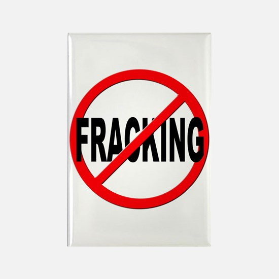 Anti / No Fracking Rectangle Magnet