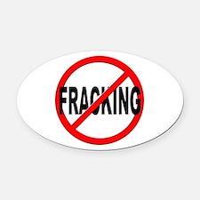 Anti / No Fracking Oval Car Magnet