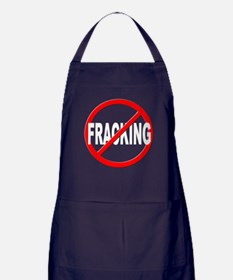 Anti / No Fracking Apron (dark)