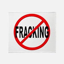 Anti / No Fracking Throw Blanket