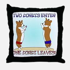 corgi_sumo_mousepad Throw Pillow