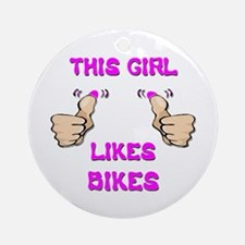 This Girl Likes Bikes Ornament (Round)
