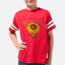 kansas- sun your buns Youth Football Shirt
