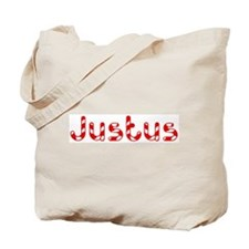 Justus - Candy Cane Tote Bag