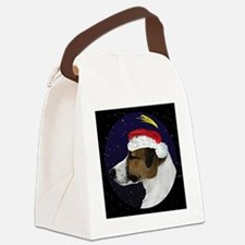 christmasnight_jackrussell Canvas Lunch Bag