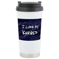 funklove_oval_kuvasz Travel Mug